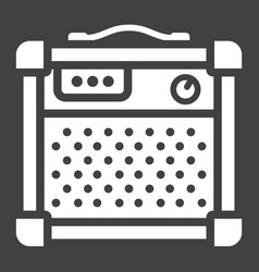 amplifier glyph icon music and instrument vector image