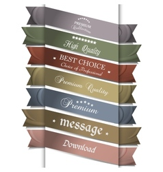 Collection of silk ribbons for design vector image