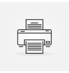Printer linear icon vector image vector image