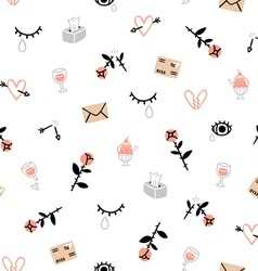 Sad valentines day pattern vector image vector image
