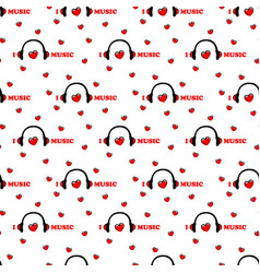 seamless pattern with symbol of music vector image
