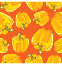 Yellow bell pepper seamless background vector image vector image