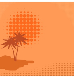 background with palm trees and sun vector image vector image