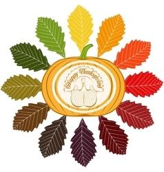 Color celebratory background turkey bird vector image