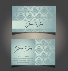 decorative business card design 0906 vector image vector image