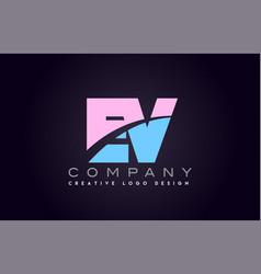 ev alphabet letter join joined letter logo design vector image vector image