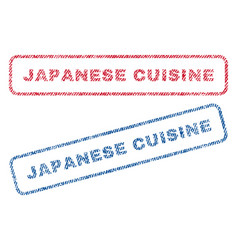 japanese cuisine textile stamps vector image vector image