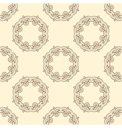 Pattern with round oriental ornament vector image vector image