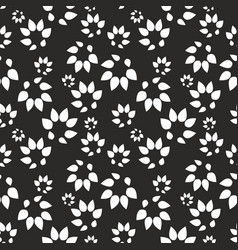 abstract black background with stylized leaves vector image