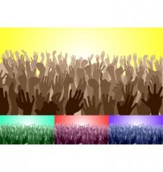 crowd vector image