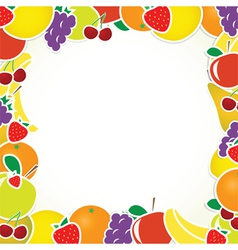 frame with fruits vector image vector image