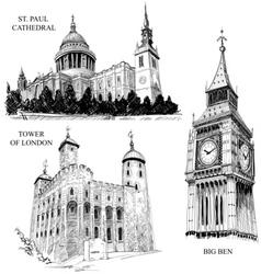 london architectural symbols vector image vector image