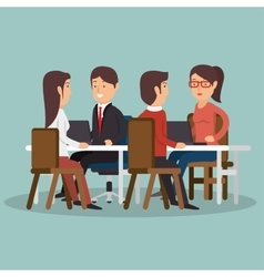 Office teamwork meeting business characters vector