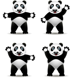 panda cartoon collection vector image