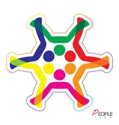 People snowflake icon vector image