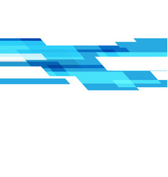 abstract blue technology geometric speed on white vector image
