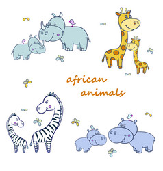African animals with zebras and hippogiraffe2-01 vector