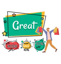 announcement discounts in store sale vector image