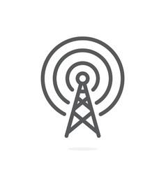 Antenna icon on white background vector