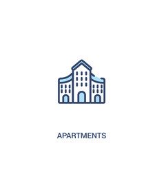 Apartments concept 2 colored icon simple line vector