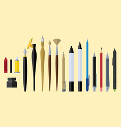 artist tools flat design vector image