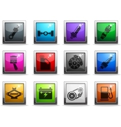 Auto Service Icons set vector
