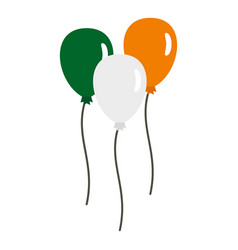 balloons in irish flag colors icon isolated vector image
