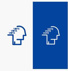 Ballot election poll referendum speech line and vector