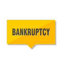 Bankruptcy price tag vector