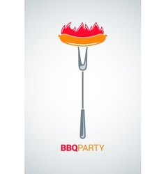 barbecue grill party menu background vector image