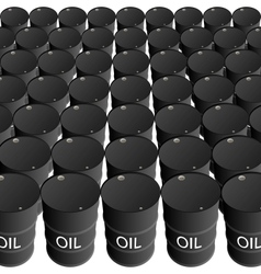 Barrels of oil products vector image