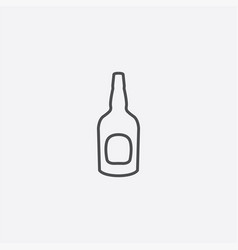 beer bottle outline icon vector image