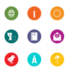 betrothal icons set flat style vector image