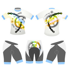 bicycle sports t-shirt vector image