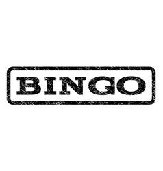 Bingo watermark stamp vector