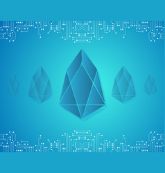 Block chain eos background collection vector