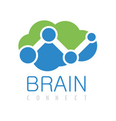 Brain connect logo vector