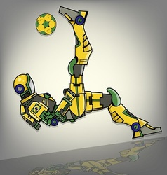 Brazilian football robot vector
