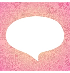 bubble speech on doodle hipster seamless pattern vector image