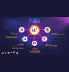 business infographic for presentation template vector image