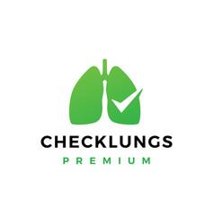 Check lungs logo icon vector