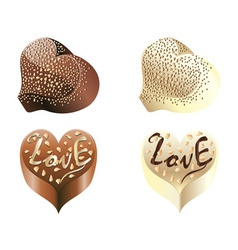 Chocolate Hearts vector image