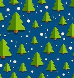 ChristmasTreePatternBackgroundBlue vector image