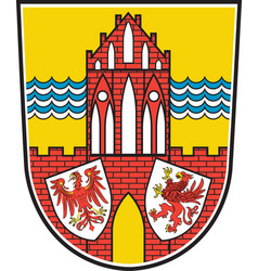 Coat of arms of uckermark in brandenburg germany vector