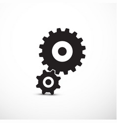 cogs gears icons isolated vector image