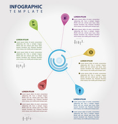 color infographic template vector image