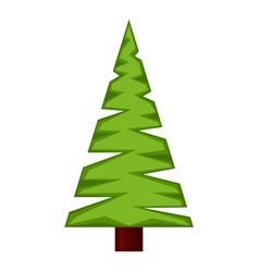 colorful cartoon triangular fir tree vector image
