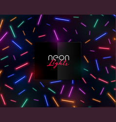 colorful neon confetti lights shiny background vector image