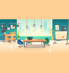 coworking space interior empty business office vector image