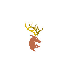 creative geometric abstract deer logo vector image